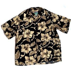 REYN SPOONER Short Sleeve Button Hawaiian Shirt